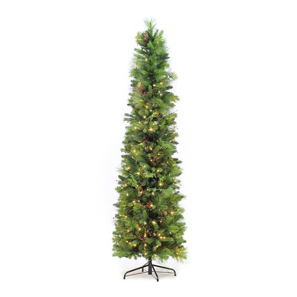 Pre-Lit Woodland Blend 7 Ft. Slim Christmas Tree
