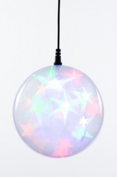 """6"""" Multi Colored Holographic Battery Operated LED Sphere Including 3-Function Controller"""