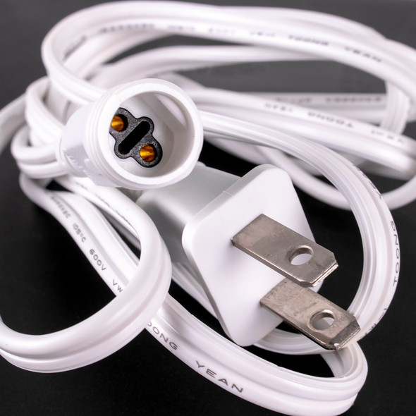 Power Cord for Cascading LED Tube Light - White