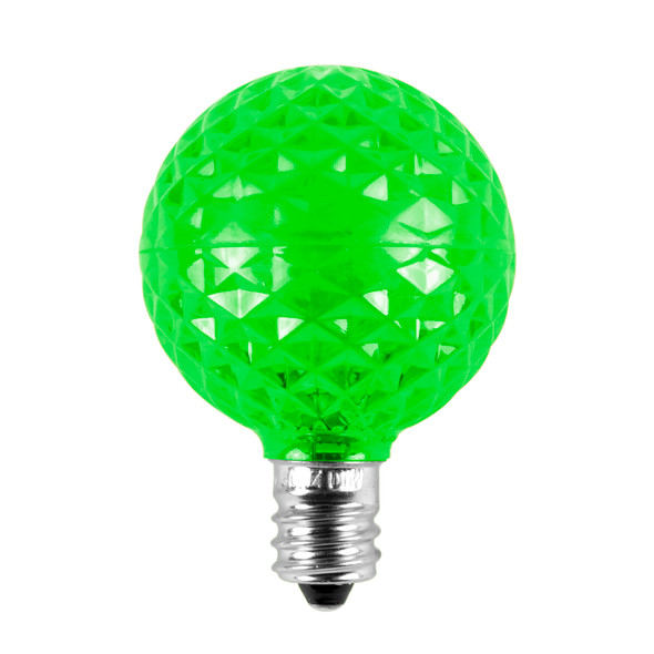 Green Unlit G40 LED Replacement / Retrofit Bulbs (dimmable)- C7 Base