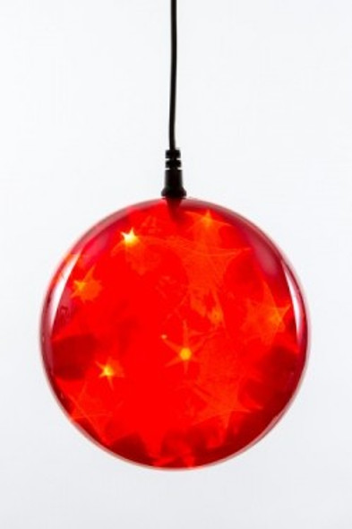 "6"" Red Holographic LED Sphere"