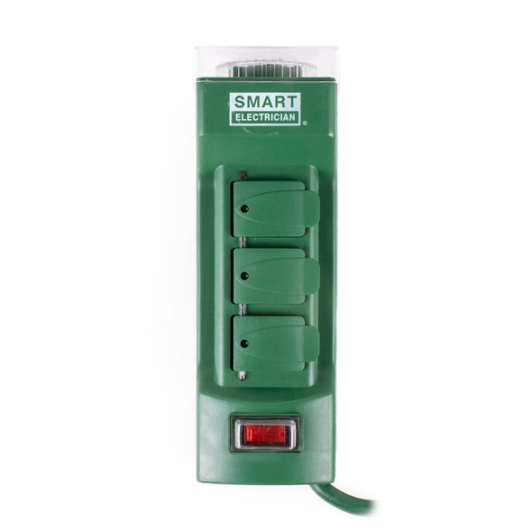 Heavy Duty 15 Amp Timer - 6 Grounded Outlets w/ Flip Covers