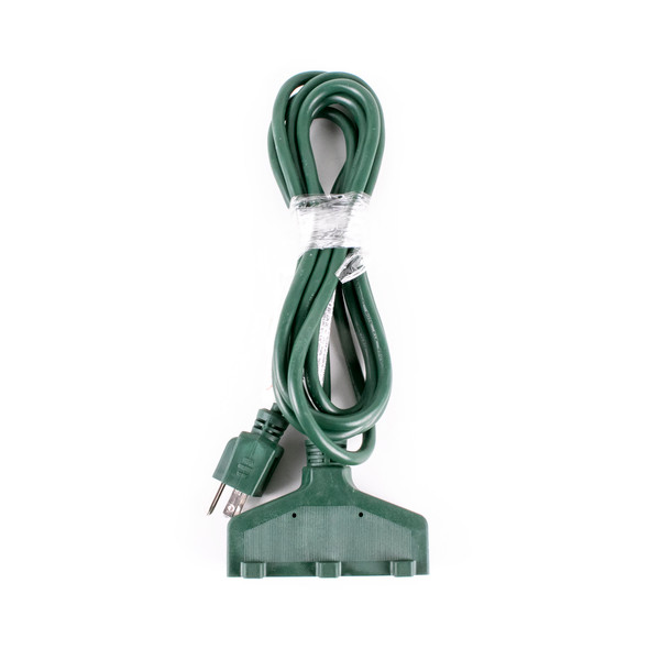 Extension Cord - 9' Length - Tri-Plug - Green