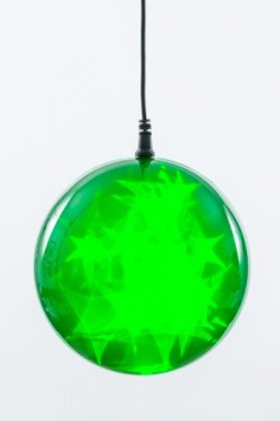 "6"" Green Holographic LED Sphere"
