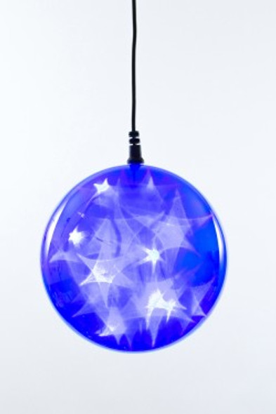 "6"" Blue Holographic LED Sphere"