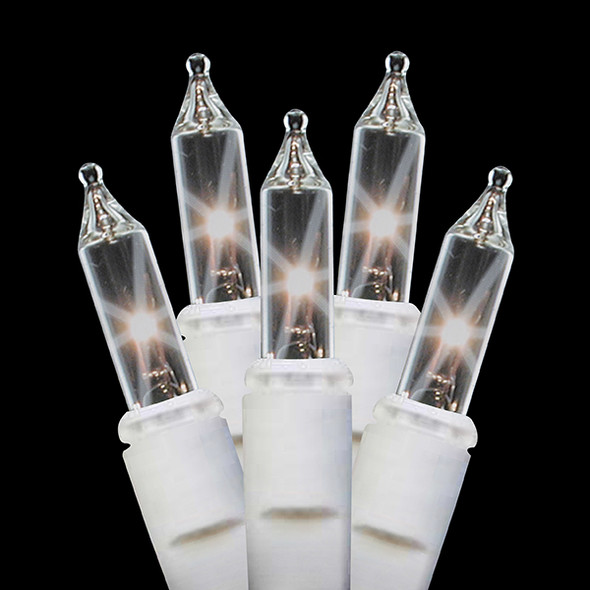 Incandescent Clear Icicle Lights - White Wire - 150 Light Count