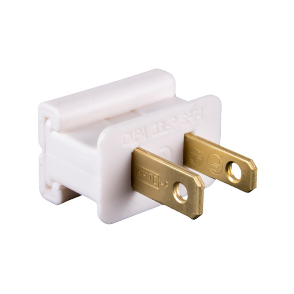 UL Male Slide-On End Connector-White