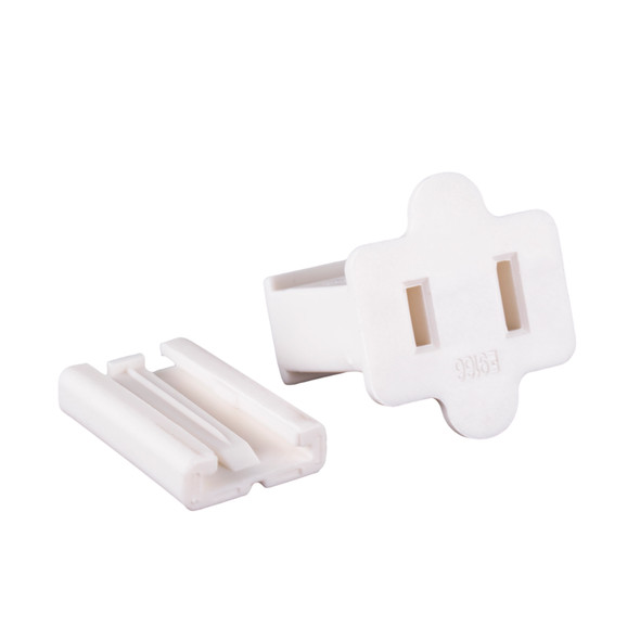 UL Female Slide-On End Connector-White