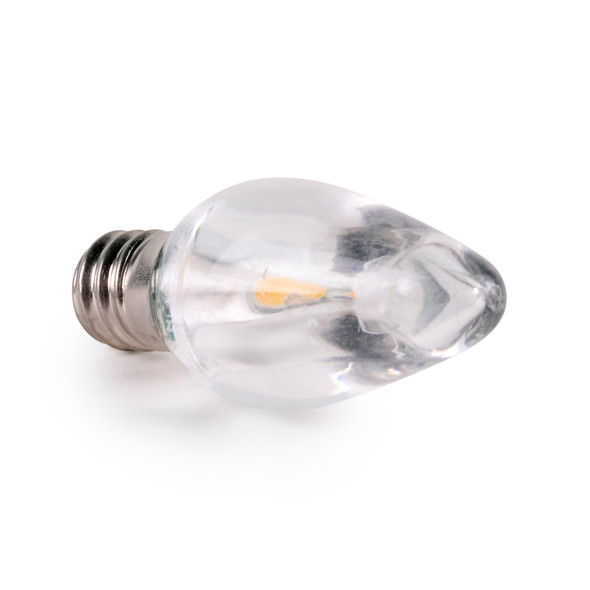 C7 SMD Smooth Clear LED Replacement / Retrofit Bulbs - Warm White - SALE ITEM