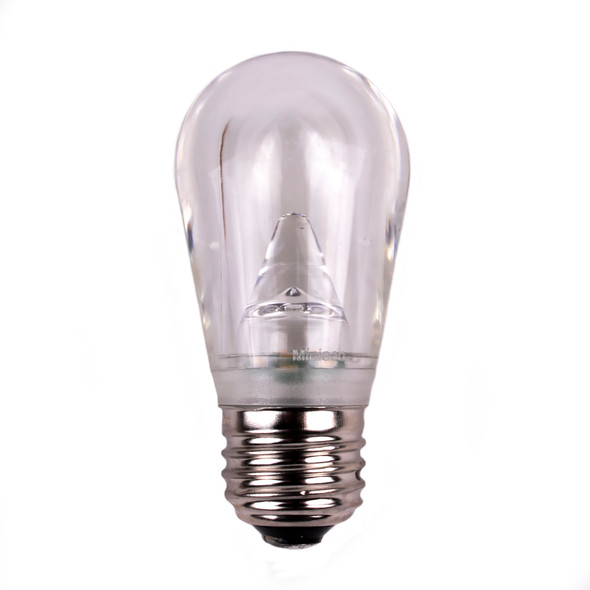 S14 LED Bulb - Cool White - E26 Base - GLASS - SALE ITEM