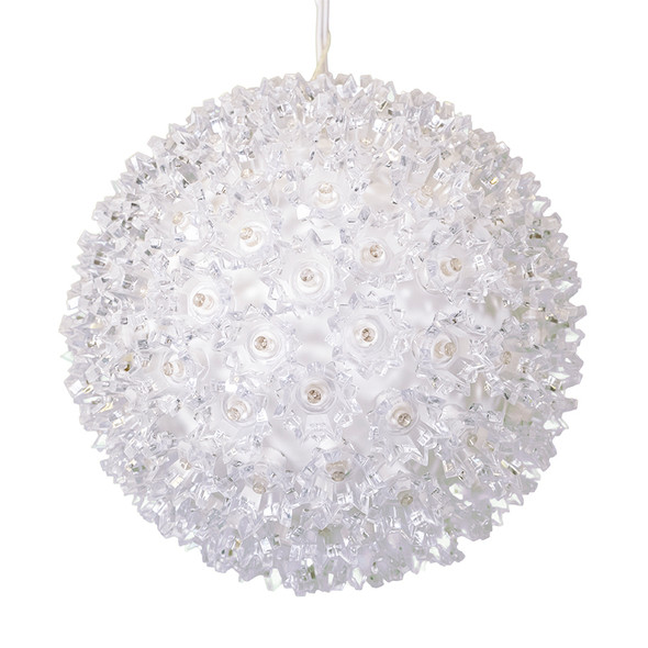 "7.5"" Warm White Twinkle LED Light Sphere - 120 5MM LEDs"