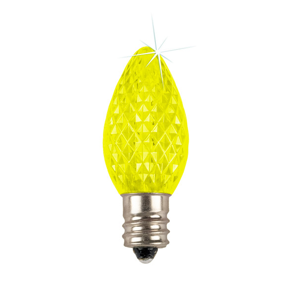 Yellow C7 SMD LED Twinkle Replacement Bulb