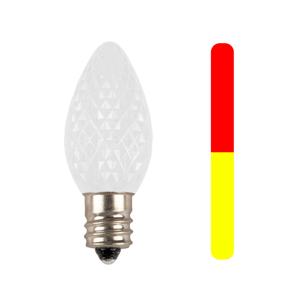 Red to Yellow C7 SMD LED Color Changing Replacement Bulb