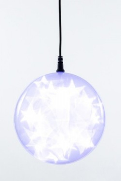 "6"" Cool White Holographic LED Sphere - Sale Item"