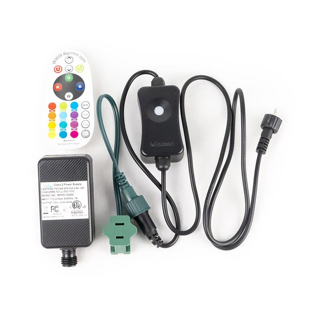 C9 RGB Remote Control Color Changing Power Controller Complete Kit