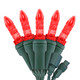 """Red M5 """"Mini Ice"""" LED Lights - Commercial Grade - 25 Light Count - Green Wire"""