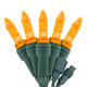 """Orange M5 """"Mini Ice"""" LED Lights - Commercial Grade - 25 Light Count - Green Wire"""