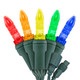 """5-Multi Color M5 """"Mini Ice"""" LED Lights - Commercial Grade - 25 Light Count - Green Wire"""