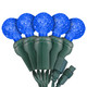 "Blue G12 ""Raspberry"" LED Lights - Commercial Grade - 25 Light Count - Green Wire"
