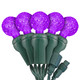 "Purple G12 ""Raspberry"" LED Lights - Commercial Grade - 25 Light Count - Green Wire"