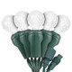 """Pure White G12 """"Raspberry"""" LED Lights - Commercial Grade - 25 Light Count - Green Wire"""