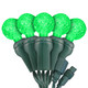 "Green G12 ""Raspberry"" LED Lights - Commercial Grade - 25 Light Count - Green Wire"