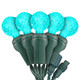 """Teal G12 """"Raspberry"""" LED Lights - Commercial Grade - 25 Light Count - Green Wire"""
