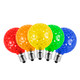 SMD G40 LED  Replacement / Retrofit Bulbs (dimmable)- 25-Multi Color Pack - C7 Base