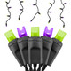 Purple & Lime Frost Halloween LED Icicle Lights