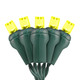Gold 5mm LED Light - Conical - Premium Grade - 70 Light Count - Green Wire