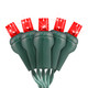 """Red 5MM LED """"Twinkle Lights"""" - Premium Grade - 50 Light Count - Green Wire"""