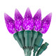 "Purple C6 ""Strawberry"" LED Lights - Commercial Grade - 25 Light Count - Green Wire"