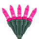 "Pink M5 ""Mini Ice"" LED Lights - Premium Grade - 70 Light Count - Green Wire"