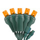 Orange 5mm LED Light - Conical - Commercial Grade - 25 Light Count - Green Wire
