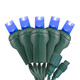 Blue 5mm LED Light - Conical - Commercial Grade - 25 Light Count - Green Wire
