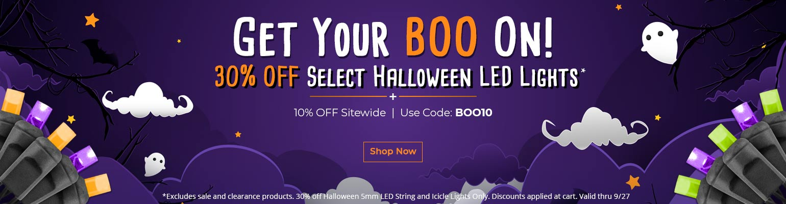 Save on Halloween LED lights