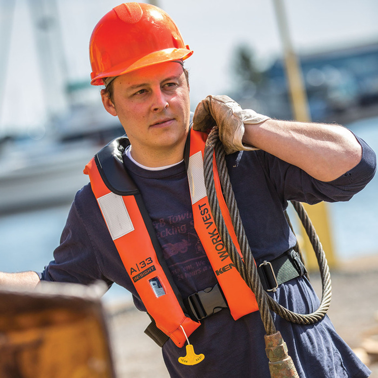 56176 KENT A-33 in-Sight Automatic Inflatable Work Vest