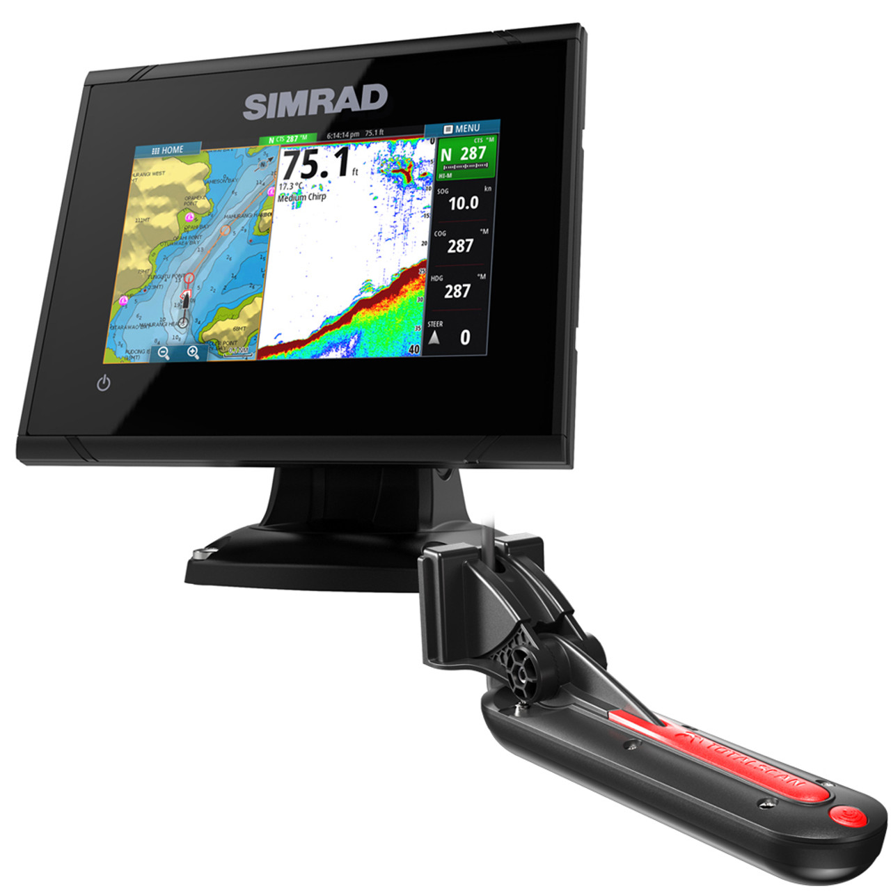 Simrad GO5 XSE Combo w/TotalScan Transom Mount Transducer