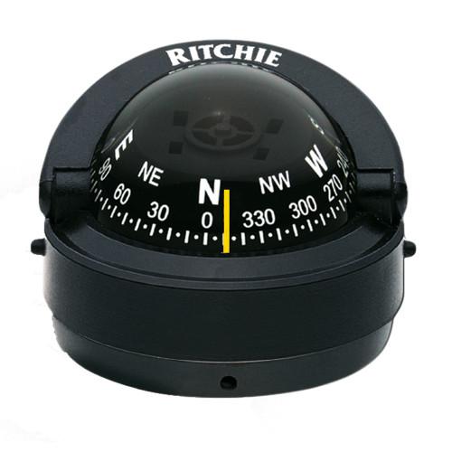 Ritchie S-53W Explorer Compass - Surface Mount - Black