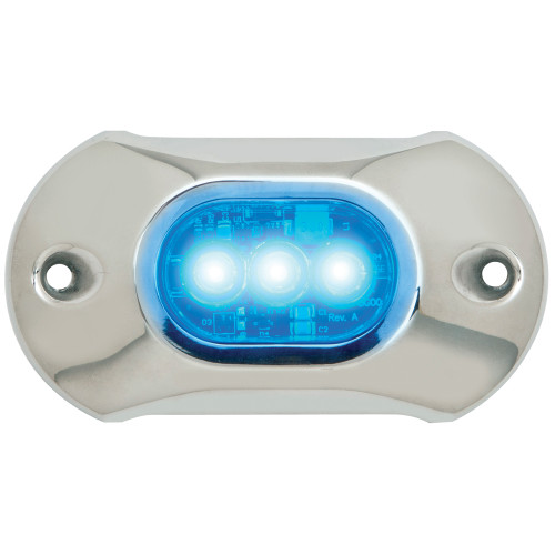 Attwood Light Armor Underwater LED Light - 3 LEDs -Blue