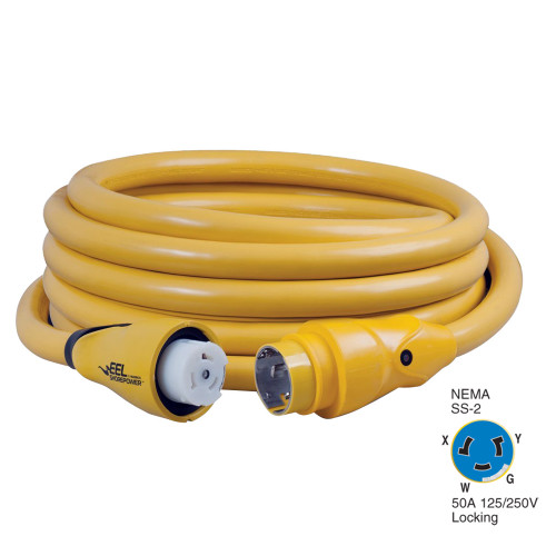 Marinco CS504-25 EEL 50A 125V/250V Shore Power Cordset - 25' - Yellow