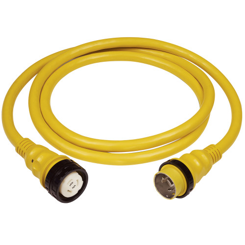 Marinco 50A 125V Shore Power Cable - 50' and 25' - White and Yellow