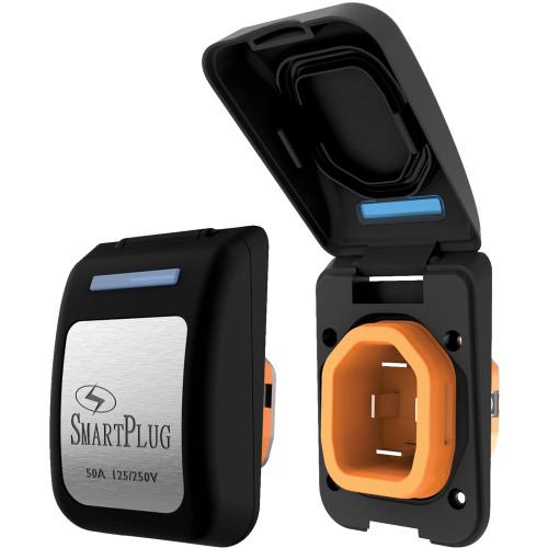SmartPlug 50 Amp Non Metallic Inlet Black