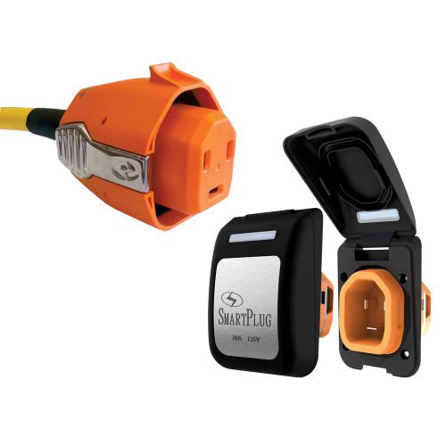 SmartPlug 30 Amp Connector & Non Metallic Inlet - Black