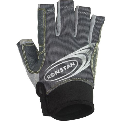 3/4 Finger Sticky Race Gloves-Grey / X-Large / Small / Large / XXL / XXS / X-Small / Medium