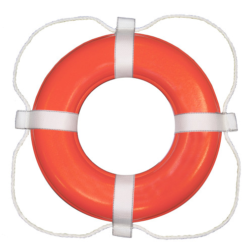 Taylor Made Foam Ring Buoy - Orange w/White Rope