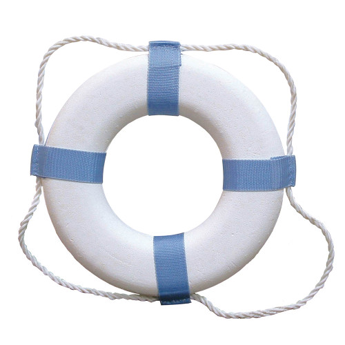 Taylor Made Decorative Ring Buoy - White/Blue - Not USCG Approved