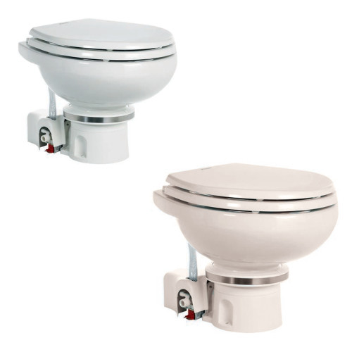 DOMETIC MASTERFLUSH 7120 WHITE ELECTRIC MACERATING TOILET - 12V W/ORBIT BASE & FRESH WATER FLUSH