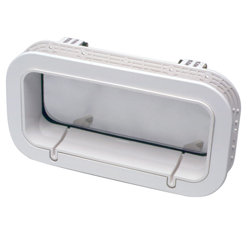 "Beckson Drain Port - 4"" x 14"" x 1""-Depth - White/Clear"