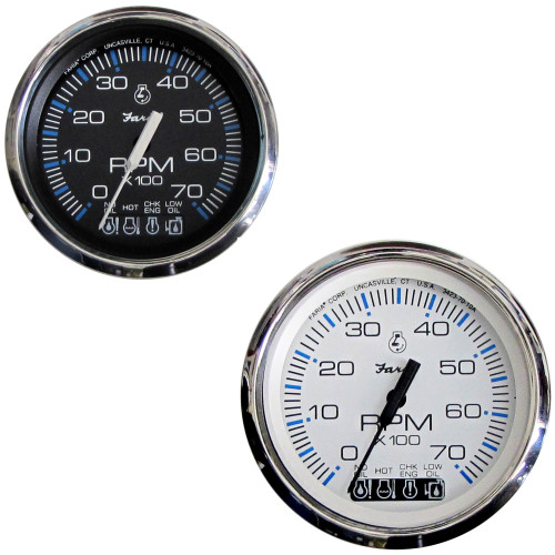 "Faria Chesapeake SS 4"" Tachometer w/Systemcheck Indicator - 7,000 RPM (Gas - Johnson/Evinrude Outboard)"